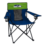 Seattle Seahawks Elite Canvas Chair w/ Officially Licensed Team Logo