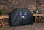 US Air Force Grill Cover with Falcons Logo on Black Vinyl