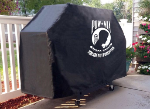 POW-MIA Grill Cover with Military Logo on Black Vinyl