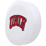 UNLV Rebels Tire Cover on White Vinyl