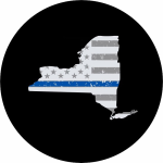 New York Thin Blue Line Spare Tire Cover