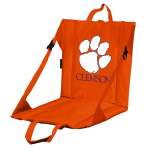 Clemson Stadium Seat w/ Tigers Logo - Cushioned Back