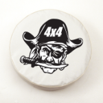 4x4 Pirate Tire Cover on White Vinyl