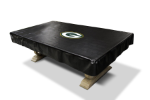 Green Bay Pool Table Cover w/ Packers Logo - Black Naugahyde