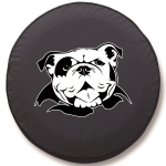 American Bulldog Tire Cover on Black Vinyl