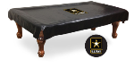US Army Pool Table Cover w/ Military Logo - Black Vinyl