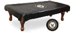 US Navy Pool Table Cover w/ Military Logo - Black Vinyl