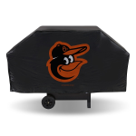 Baltimore Grill Cover with Orioles Logo on Black Vinyl - Economy