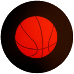 Basketball Logo Tire Cover on Black Vinyl