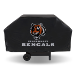 Cincinnati Grill Cover with Bengals Logo on Black Vinyl - Economy