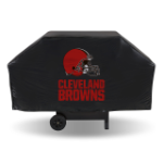 Cleveland Grill Cover with Browns Logo on Black Vinyl - Economy