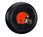 Cleveland Tire Cover with Browns Logo on Black - Standard