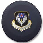 Air Force Special Operations Tire Cover on Black