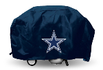 Dallas Grill Cover with Cowboys Logo on Blue Vinyl - Deluxe