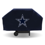 Dallas Grill Cover with Cowboys Logo on Black Vinyl - Economy