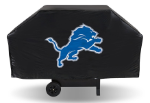 Detroit Grill Cover with Lions Logo on Black Vinyl - Economy