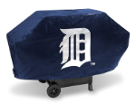 Detroit Grill Cover with Tigers Logo on Black Vinyl - Deluxe