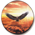 Divine Eagle Tire Cover on Black Vinyl