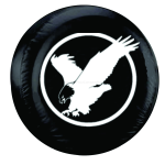 Eagle Tire Spare Cover on Black Vinyl