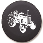 Farm Tractor Tire Cover on Black Vinyl