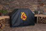 Arizona State Grill Cover with Sun Devils Logo on Black Vinyl