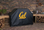 California Grill Cover with Golden Bears Logo on Black Vinyl