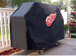 Detroit Grill Cover with Red Wings Logo on Black Vinyl