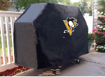 Pittsburgh Grill Cover with Penguins Logo on Black Vinyl