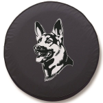 German Shepherd Tire Cover - Black Vinyl