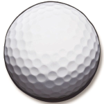 Golf Ball Tire Cover on Black Vinyl