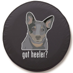 Got Heeler Tire Cover on Black Vinyl