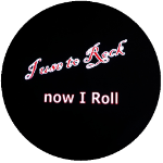 Rock and Roll Now I Ride Tire Cover on Black Vinyl