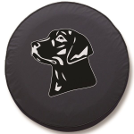 Labrador Retriever Side VIew Tire Cover on Black Vinyl