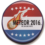 Meteor 2016 Tire Cover on Black Vinyl