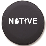 Michigan Native Tire Cover on Black Vinyl