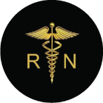 Nurse Medical Symbol Tire Cover on Black Vinyl