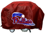 Philadelphia Grill Cover with Phillies Logo on Black Vinyl - Deluxe