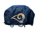 Los Angeles Grill Cover with Rams Logo on Blue Vinyl - Deluxe
