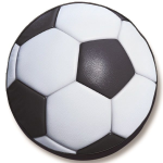 Soccer Ball Tire Cover on Black Vinyl