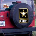 United States Army Tire Cover on Black Vinyl