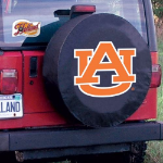 Auburn Tire Cover with Tigers Logo on Black Vinyl