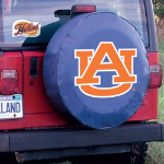 Auburn Tire Cover with Tigers Logo on Blue Vinyl