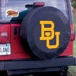 Baylor Tire Cover with Bears Logo on Black Vinyl