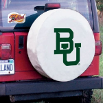 Baylor Tire Cover with Bears Logo on White Vinyl