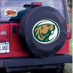 Bermidji State Tire Cover with Beavers Logo on Black Vinyl