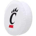 Cincinnati Tire Cover with Bearcats Logo on White Vinyl