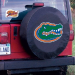 Florida Tire Cover with Gators Logo on Black Vinyl