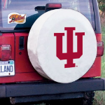 Indiana Tire Cover with Hoosiers Logo on White Vinyl