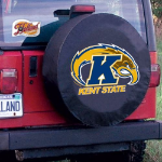 Kent State Tire Cover with Golden Flashes Logo on Black Vinyl