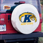 Kent State Tire Cover with Golden Flashes Logo on White Vinyl